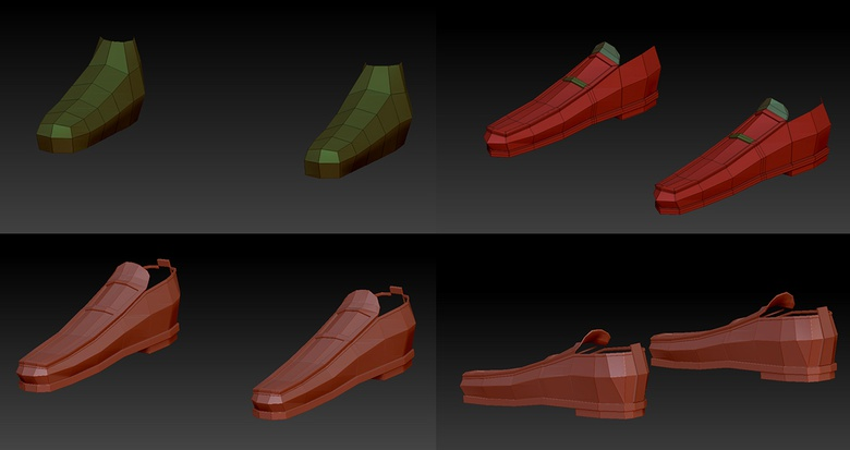 The shoes will need extra modification to give them a more realistic appearance