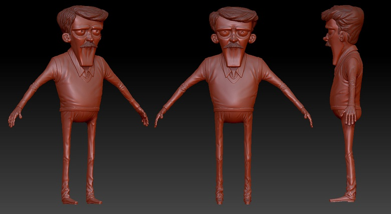 The finished character model