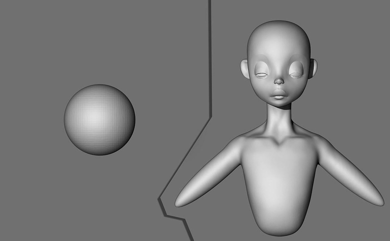 Sphere and basic shapes in ZBrush
