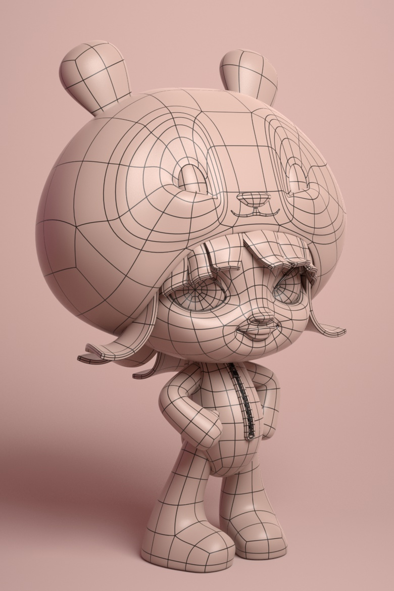 <h5>The Character was posed using the standard Move and Rotate tools in MODO</h5>