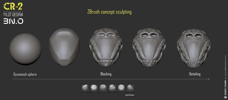 ZBrush concept sculpting progress