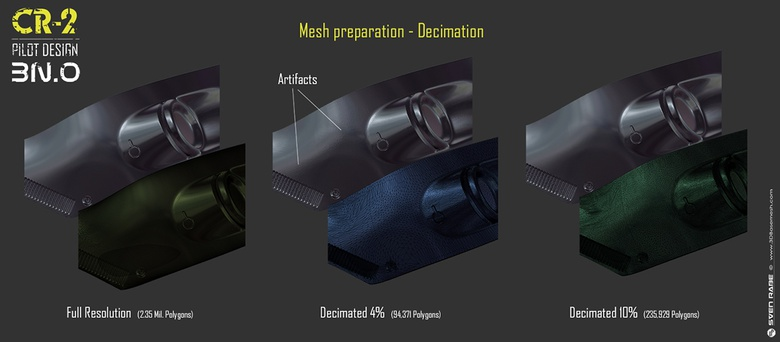 Mesh optimization with Decimation Master in ZBrush