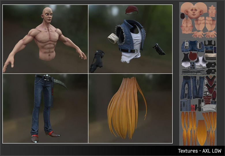 Adding texture to the character