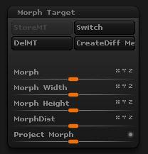 <h5>Morph Target settings</h5>