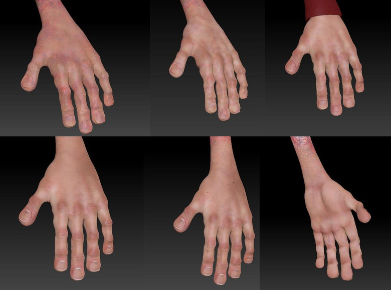Use the same process to paint the hands