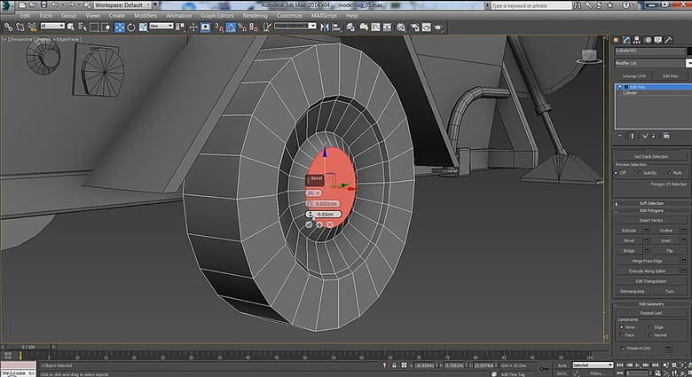 Think ahead when modeling a wheel; extra cuts and extrusions can dramatically increase polycounts