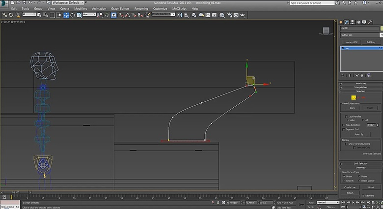 Using splines to create complex geometry shapes