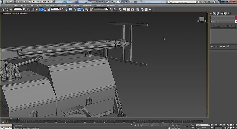 Using what we have modeled already, we can continue to flesh out the crane arm