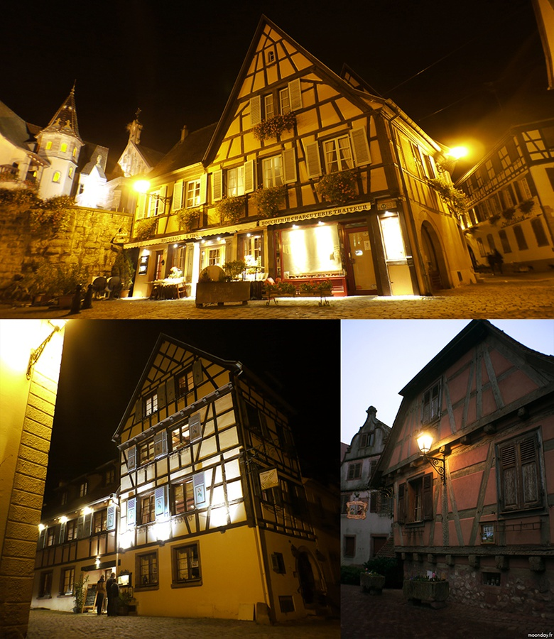 Examples of typical Alsatian architecture from the towns of Eguisheim and Kaysersberg