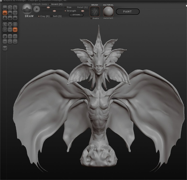 Modeling the creature in Sculptris