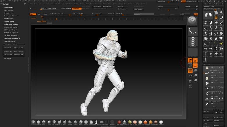 Posing the space marine