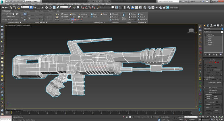 Modeling the gun in 3ds Max