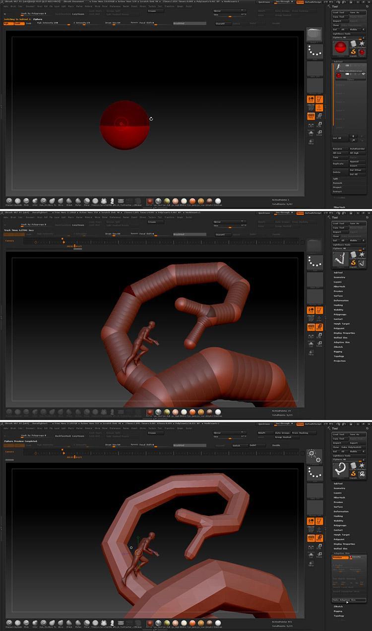 <h5>Create and pose the dragon basemesh</h5>