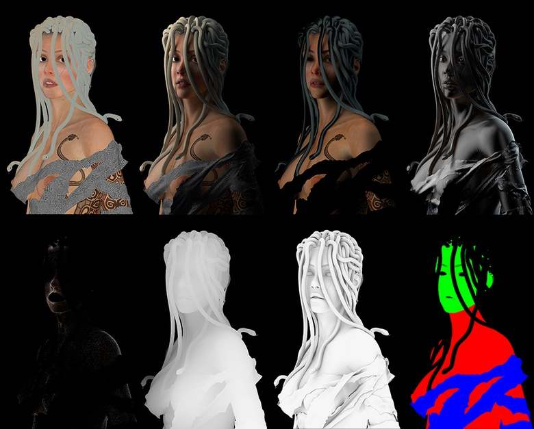 A look at Medusa's V-Ray render elements