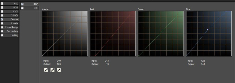 Use the adjustment curves to balance the colors in your image