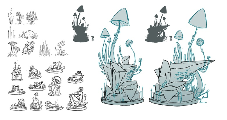 The early sketches and the finished concept