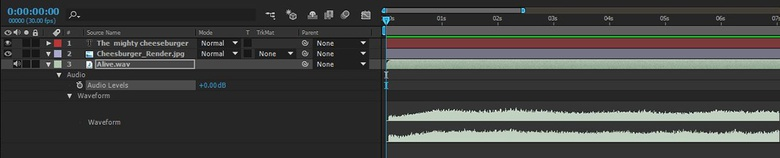 Use the audio waveform as a visual indicator of how loud the sound is at any one point in time
