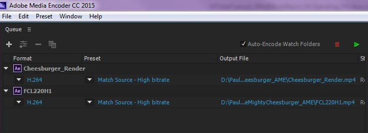 Queue multiple projects using Adobe Media Encoder.