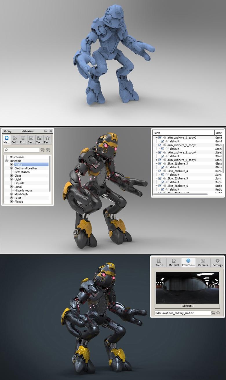 Exporting to KeyShot for rendering