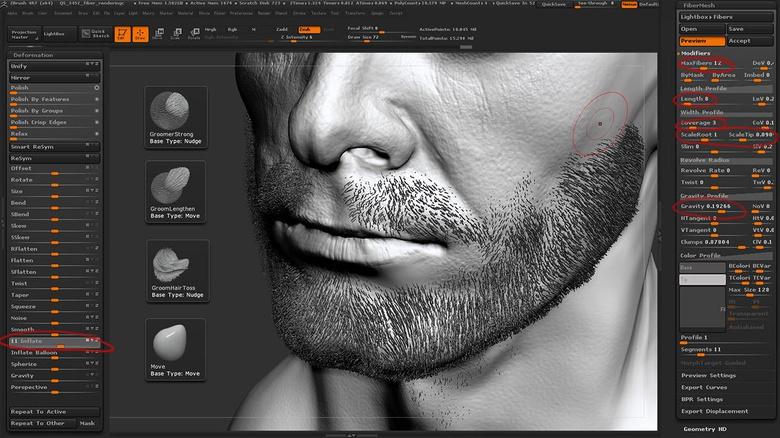 Beard creation with Fibermesh