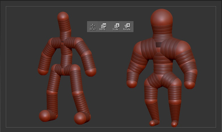 Making a stick man with ZSpheres