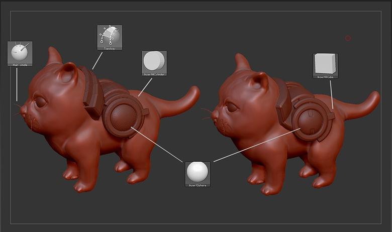 Adding Sidekat's whiskers and equipment