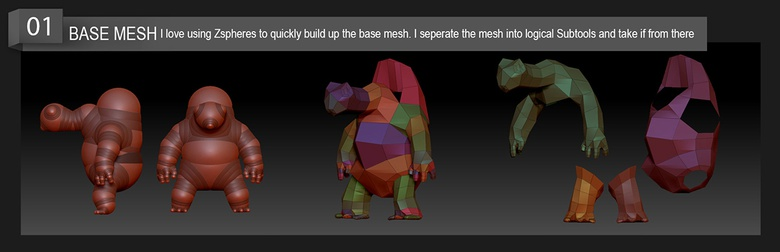 Creating the base mesh using ZSpheres