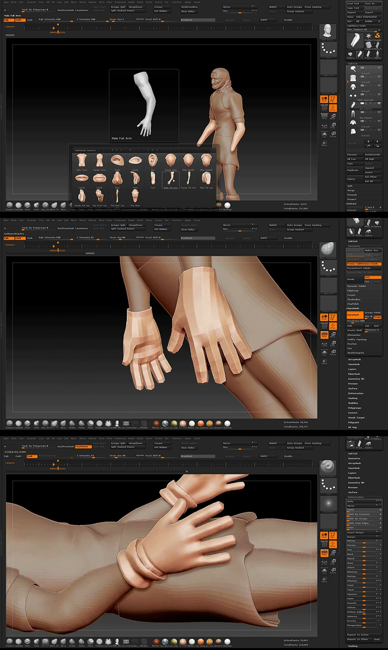 Creating the gloves from an existing mesh