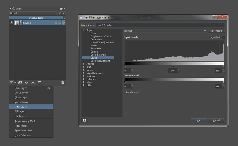 Know the Basics: Krita Part 2: Brushes, Masks and Filters