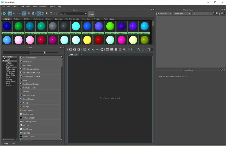 Hypershade is Maya's material editor.