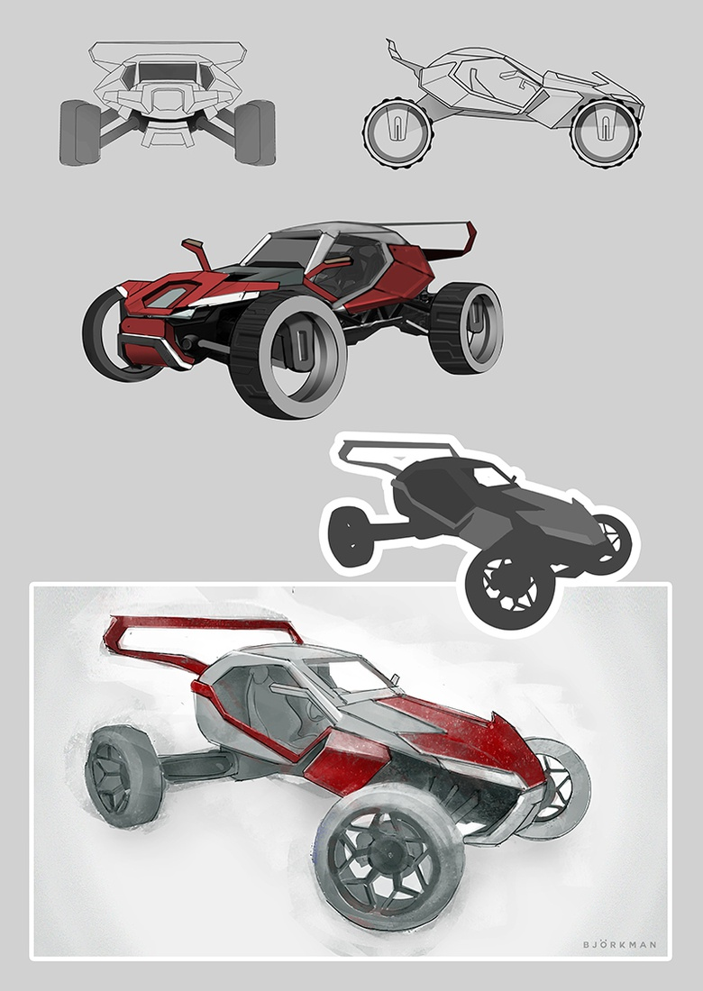 Sci Fi Cars In Maya Desert Racer Part 1 3dtotal Learn Create Share