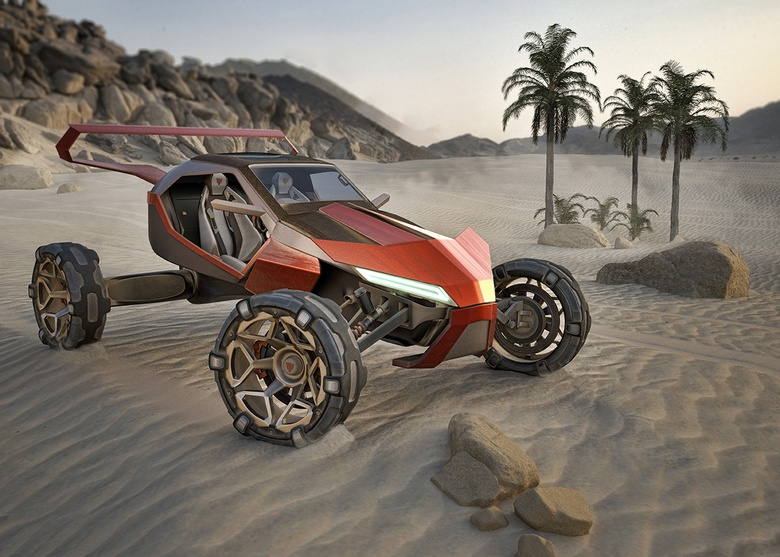 Sci-fi cars in Maya and Maxwell Render: Desert Racer Part 2
