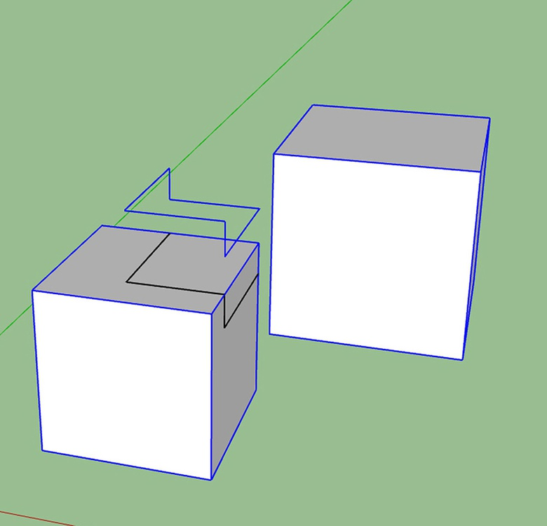 Fig.6a - Cutting up some geometry