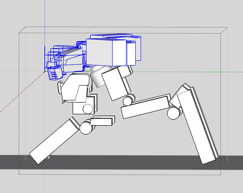 Fig.6d - Checking how the mech looks in profile