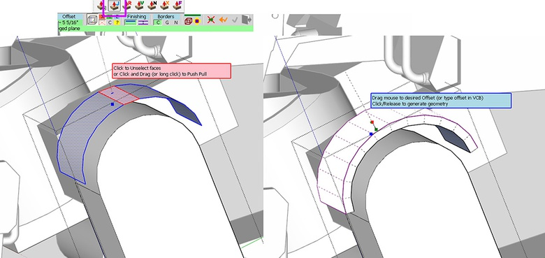 Fig.7d - Using the JointPushPull plugin to thicken the arch