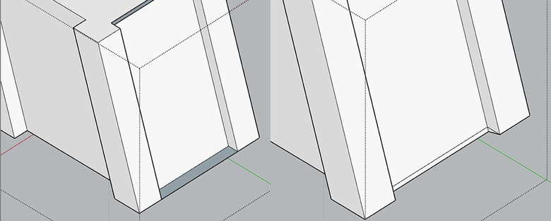 Fig.8e - Cutting and deleting unwanted geometry