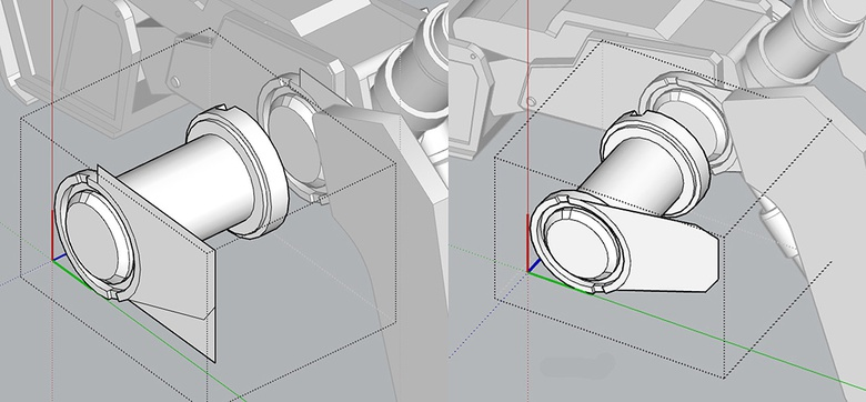 Fig.11a - The mech's detail level at this stage