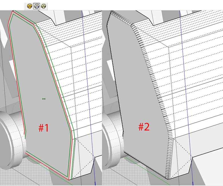 Fig.13b - Creating smoother bevels with RoundCorner
