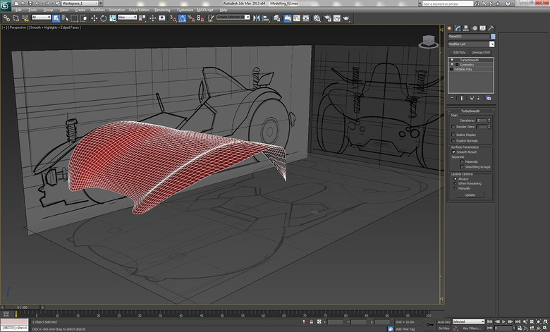 Fleshing out the 2D plane into a 3D mesh
