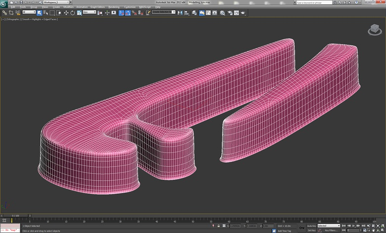 Using splines to create shapes for the tire treads