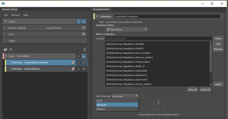 Overrides let you adjust scene attributes without affecting anything original.