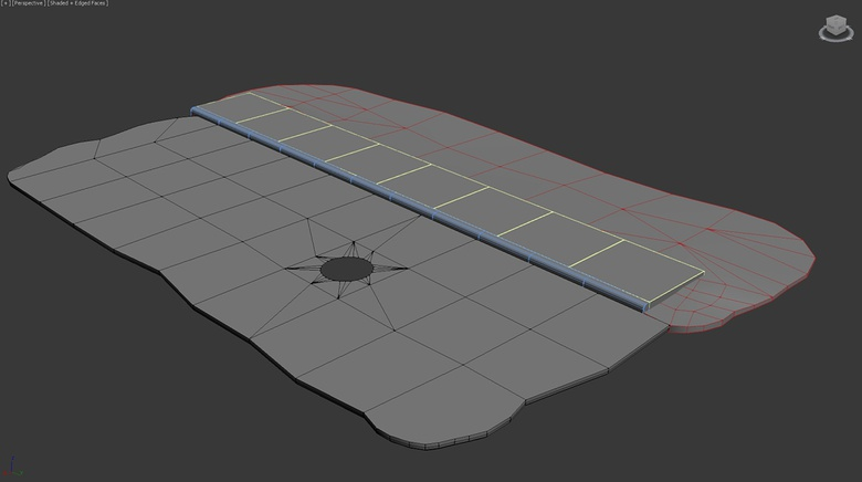 Using simple box modeling methods to model out the floor pieces