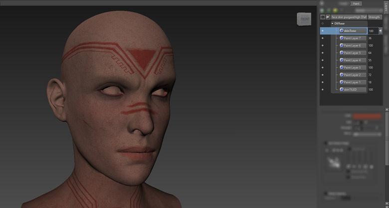 Skin texturing in Mudbox