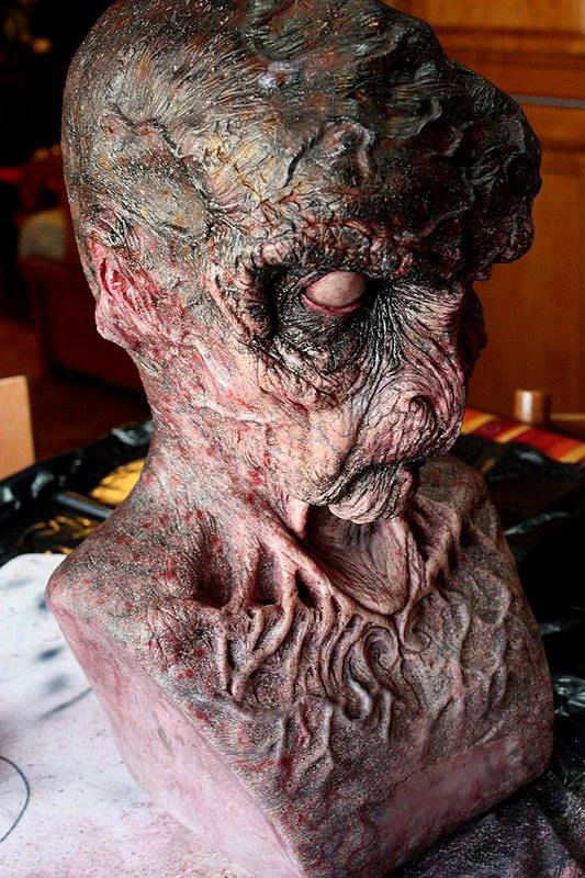 The resin sculpt used as a basis for this creature