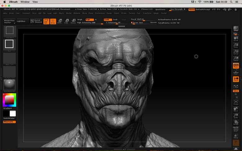 Finishing the creature sculpt and getting ready for texture painting