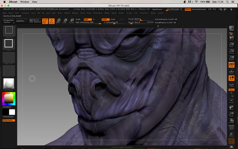 Evaluating the surface for the next step of texturing