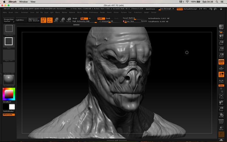 Making the first pass of details and some major changes to the facial anatomy