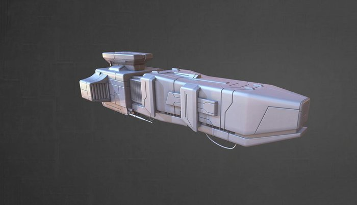 Creating textures for sci-fi spacecraft - Part 2 of 3 · 3dtotal