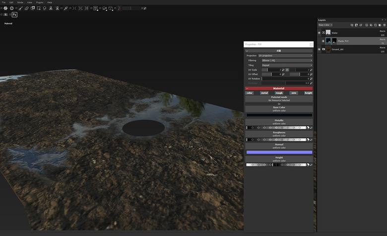 Creating simple puddles but adding a great amount of detail and interest