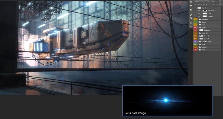 Adding lens flare effects to the image is a very nice detail, but don't abuse it!